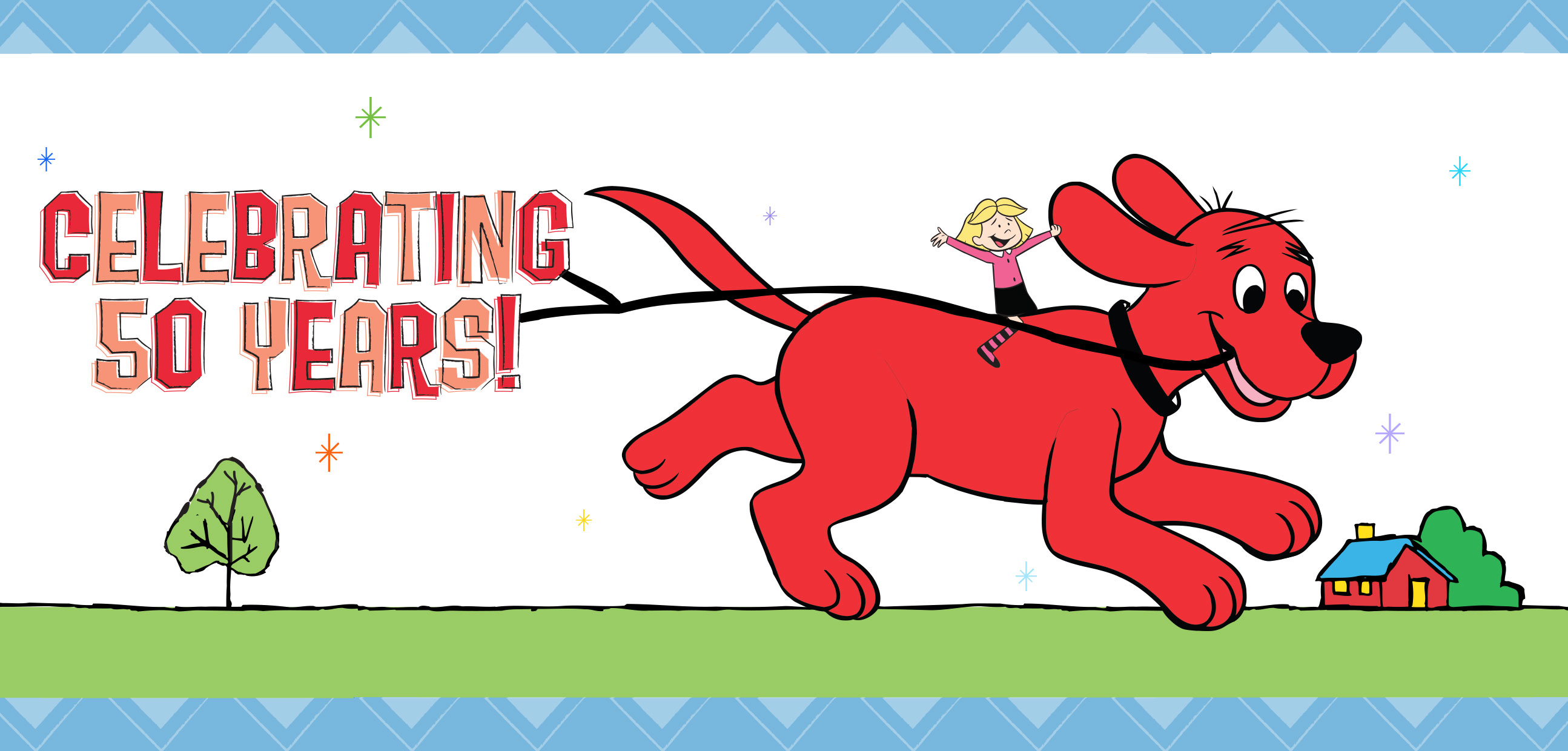 Scholastic Clifford Christmas Card
